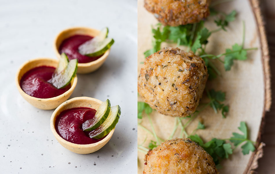 Seasonal canapes for your summer wedding ideas