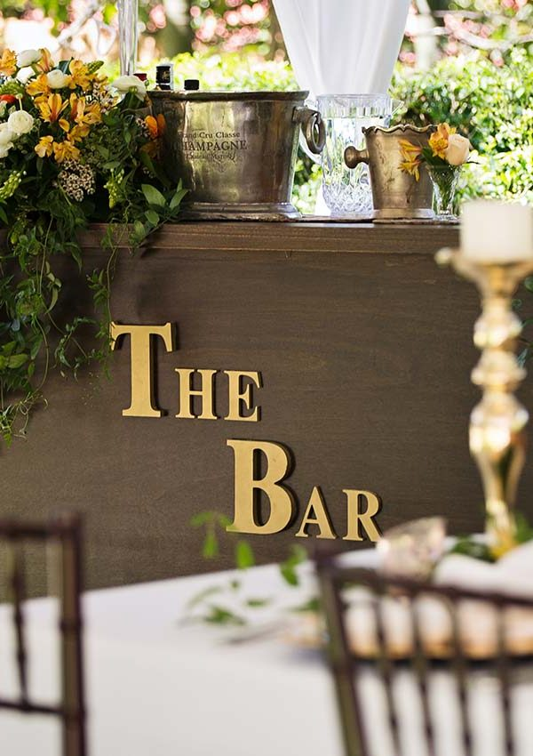 Ideas for your wedding bar